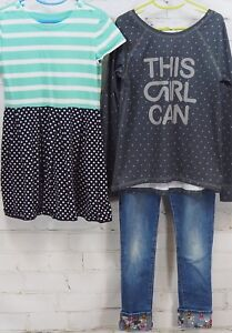 48fad0d5c Gap Kids Outfit Set: Dress + GapFit This Girl Can T-Shirt + Bling ...