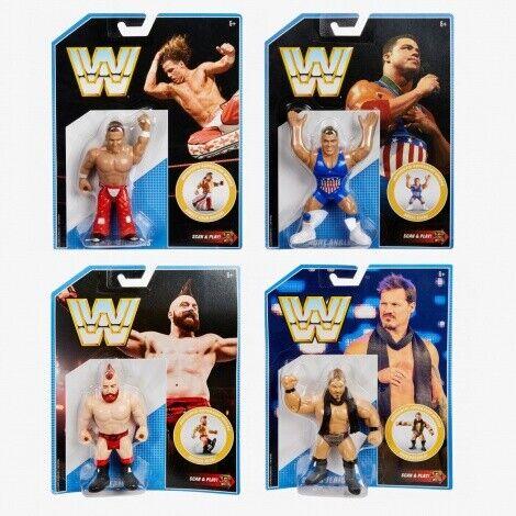 WWE Mattel Retrò Figure MOC SERIE 7 Asst