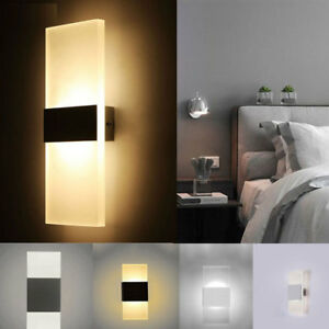 Details About Simple Led Wall Lighting Up Down Cube Indoor Outdoor Bedroom Sconce Lamp Fixture