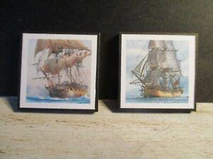 2 Maison De Poupées Miniature Navires Photos Saw3-afficher Le Titre D'origine Cadeau IdéAl Pour Toutes Les Occasions