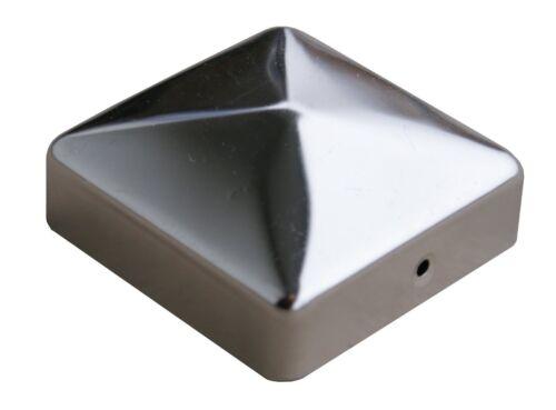 Pali in Acciaio Inox Cappuccio copertura ottica per montanti 9 x 9 cm