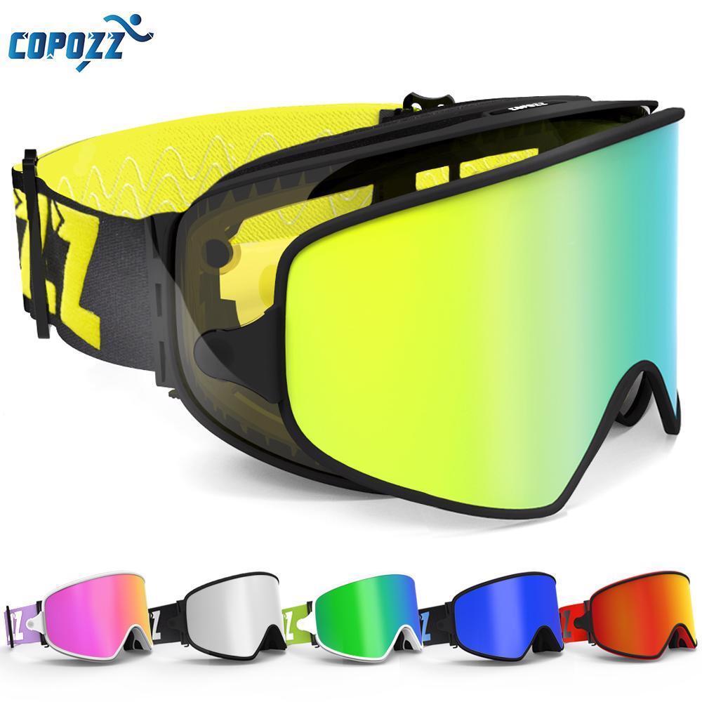 Ski Snowboard Goggles Magnetic Dual  Use Lens For Night Skiing Anti Fog Men Women  discount low price