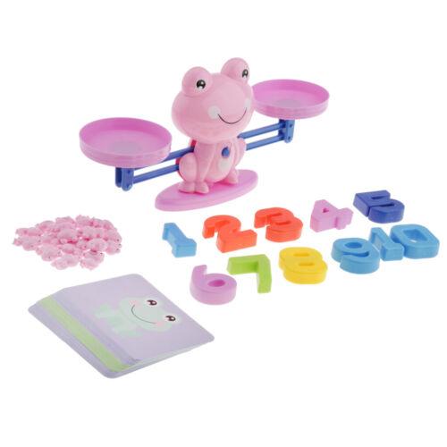 Purple Frog Numbers Preschool Balance Mathematics Montessori Kids Education Toy