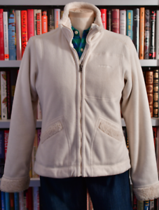 Preowned Medium Størrelse Jacket Fleece Ivory Patagonia reversible lady Farve rF1OnrSxY