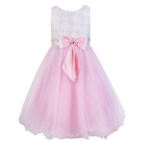 681e09c84404fe Image is loading Fairy-Princess-Flower-Girl-White-Pink-Pretty-Occasion-