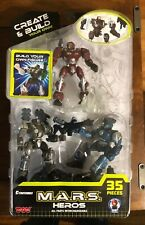 3 Figures 35 Pieces M.A.R.S Heroes Action Figure Set Create /& Build Your Own