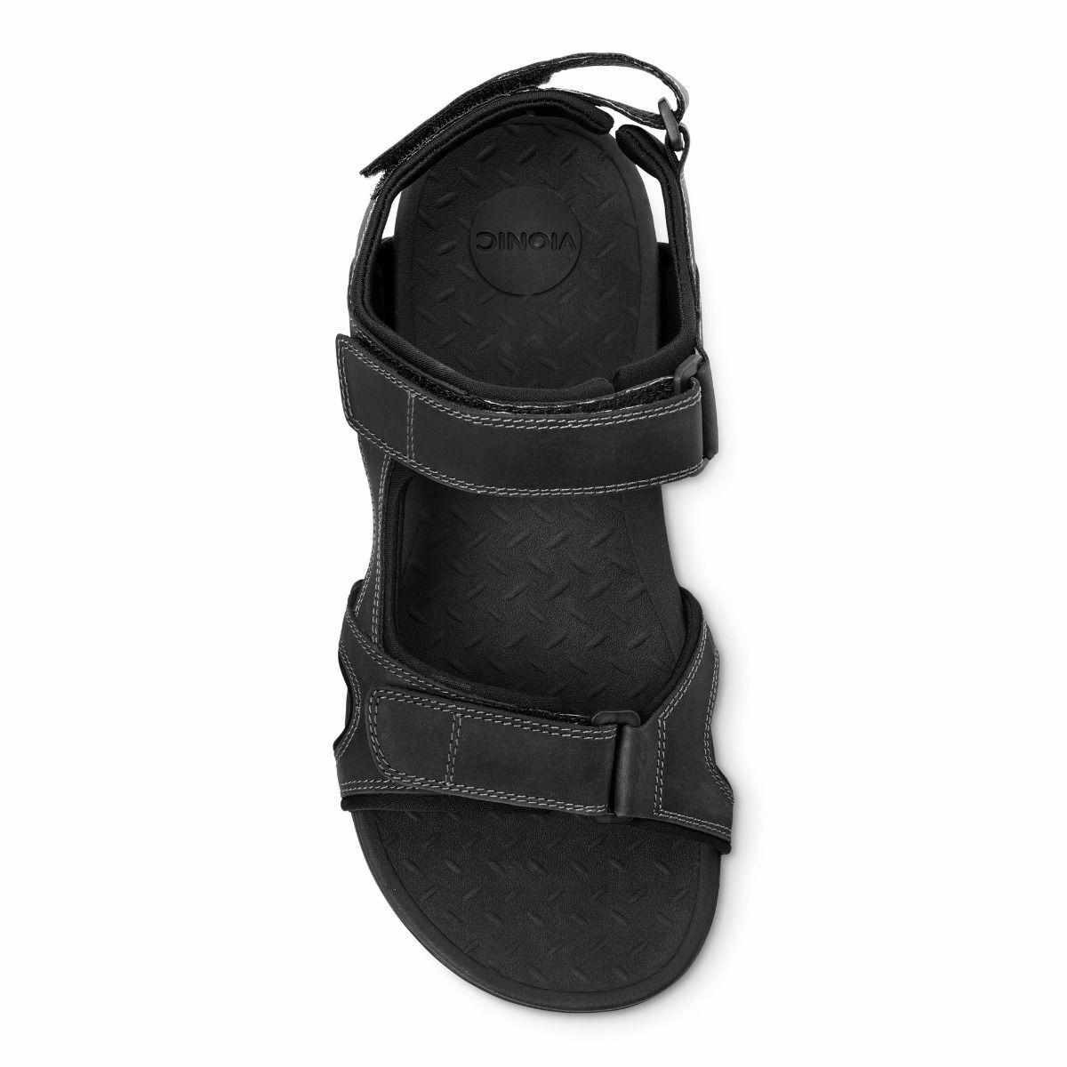 b07b6da9fb4d ... Vionic Orthotic Mens Gerrit Gerrit Gerrit Adjustable Sandal - Black  6cfa11 ...