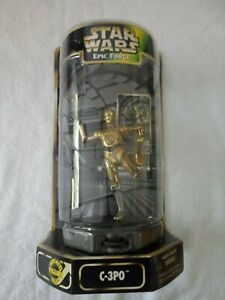 Kenner C-3PO Figure on 360 Degree Rotating Base Star Wars Epic Force Rare Out of Production 1997 Collectible