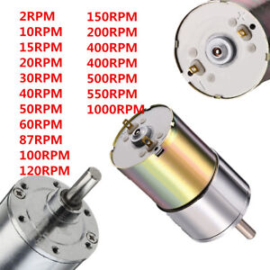 Details about DC 12V 2-1000RPM Powerful High Torque Electric Gear Box Motor  Speed Reduction