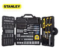Basic Home Hand Tool Kit Stanley Mixed Tool Set 210 Piece Storage Box Chrome