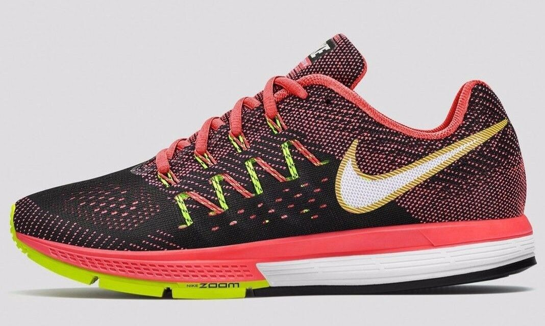 Nike Mens Zoom Vomero 10 Running shoes Hot Lava Black Volt 717440-800 Sz 10