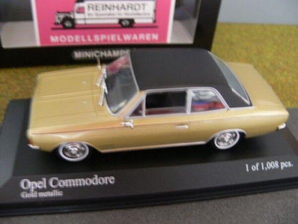 1 43 Minichamps opel commodore a 1966 oro metalizado 430 046165