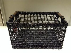 Image Is Loading 1 Jute Seagr Woven Storage Home Decor Rectangular
