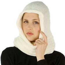 Winter Pullover Knit Loop Tube Infinity Hood Cowl Turtleneck Scarf Ski Hat Ivory