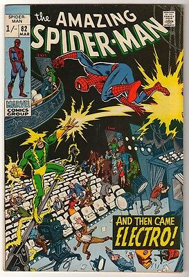 MARVEL Comics  FN- SPIDERMAN SILVER age #82 1968 ELECTRO  APP STORY AMAZING