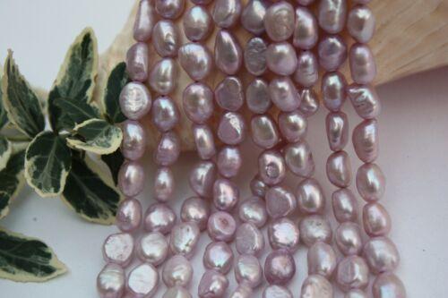 Br404 de culture Strang Vraies Perles Bijoux Chaîne Collier 8-9 mm Baroque