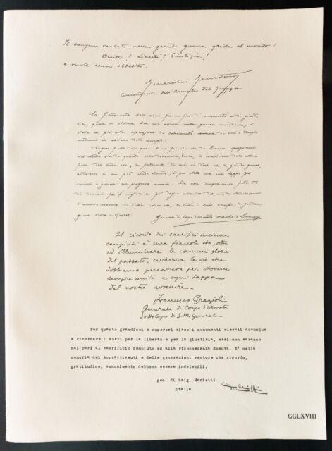 1926 - Litografía citación General Giardino, Gonzaga, Grazioli, Marietti