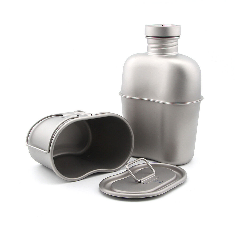 Keith Ti3060 Titanium Cantine Bouteille D'eau Tasse Camping Outil Armée box&bag carafe
