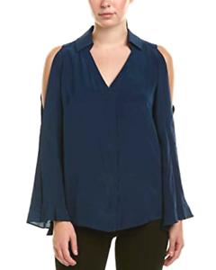 Nanette Lepore Cordoba Silk Blouse MSRP  Größe L B 391 NEW