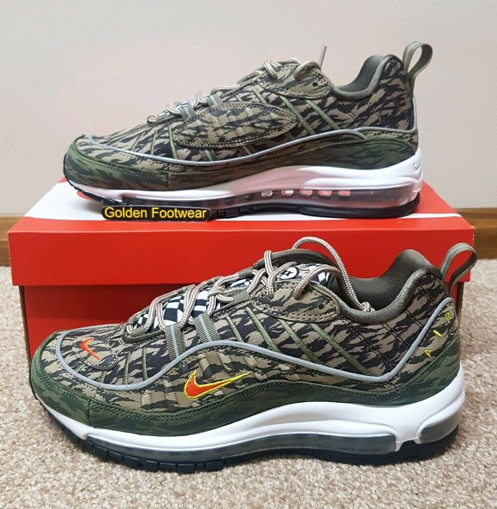 Nike Air Max 98 AOP Khaki Olive Tiger Camo 97 Uk12 With Order Note