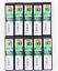 Olfa 9mm Cortador de negro de repuesto estándar deber Hoja BB50K 50 Cuchillas 10 Juego de Japón F//S