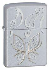 Zippo Golden Butterfly Satin Chrome Lighter 24339 *NEW*