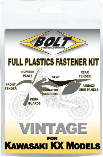 Bolt Full Plastic Fastener Kit Kawasaki 1992-1993 KX125 KX250 Shrouds Fenders