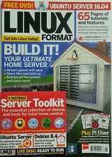 Linux Format UK August 2016 Build It Your Ultimate Home Server FREE SHIPPING sb