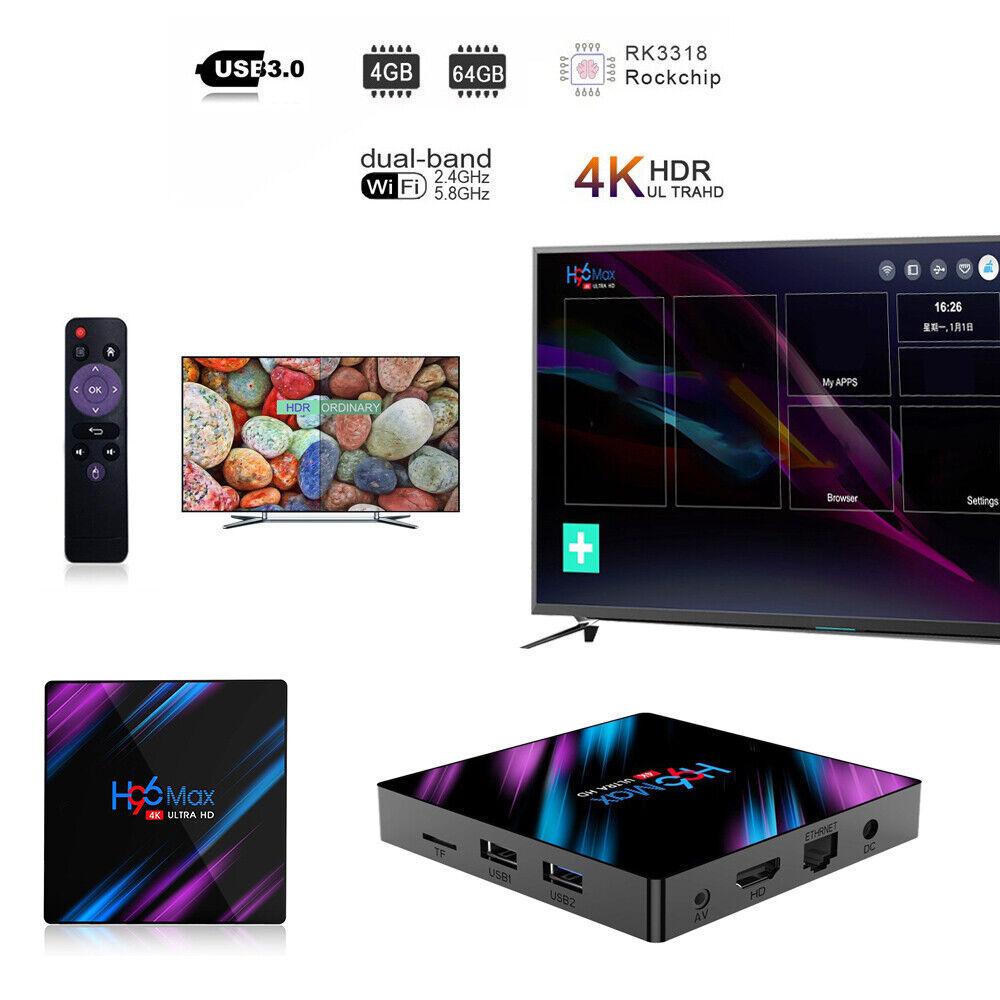 Smart TV BOX H96Max Android 9.0 64 Bit Quad Core 4K Ultra HD WiFi Media Player android bit box core h96max media quad smart ultra wifi