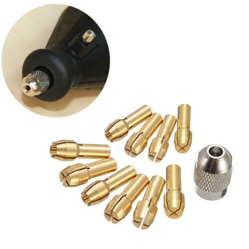 10 Stück Bohrfutter Spannzangen 0,5 3,2mm 4,8mm Schaft für Drehwerkzeug