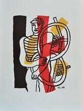 Fernand Leger Le Cycliste (1948) Kunstdruck Bild Lithographie 76x56cm