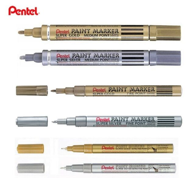 25c6a10700aae Pentel Super Gold Medium Paint Permanent Marker Pen Metal Glass - Christmas  for sale online