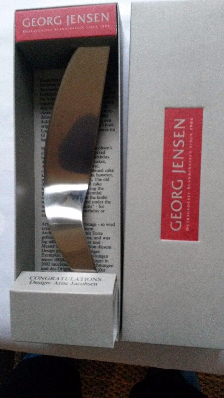 Georg Jensen Tortenheber Design Arne Jacobsen OVP Edelstahl NEU