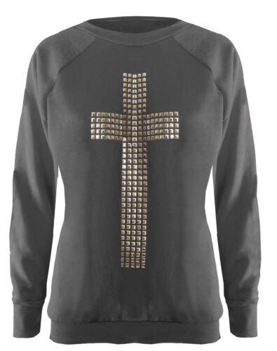 Nouveau débardeur croix paillettes Hiver Sweat Tops 8-14 cavaliers