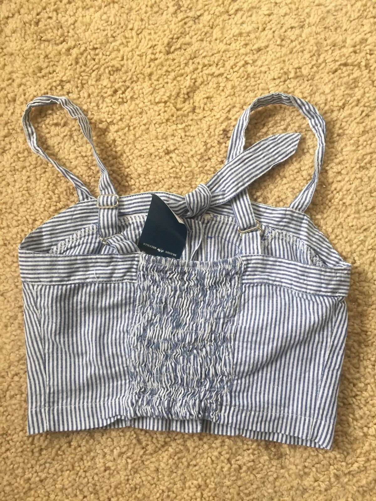 f1f5408d Brandy Melville Navy/green Plaid Tie Front Button up Lily Tank Top S/m for  sale online | eBay