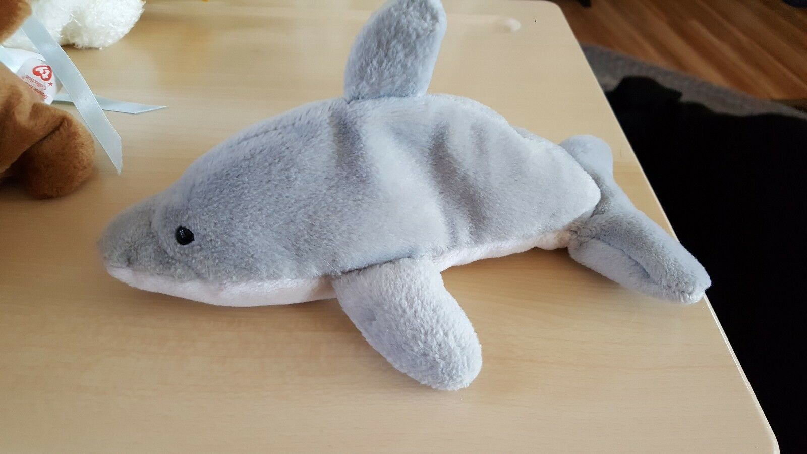 Flash the Dolphin Beanie Baby RARE 4 LINE MADE MADE MADE IN KOREA TUSH TAG No Hang tag c60fd4