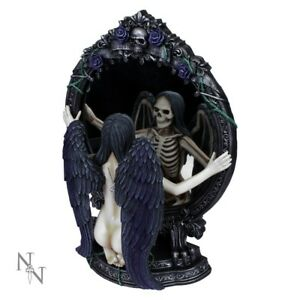 FATES-REFLECTION-Large-33cm-Dark-Angel-Figurine-Statue-Mirror-Nemesis-Now-BNIB