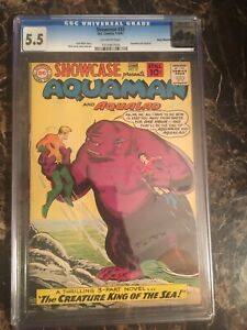 Showcase-32-CGC-5-5-OW-4th-Silver-Age-Aquaman-UNPRESSED-OLD-CASE-PEDIGREE-COPY