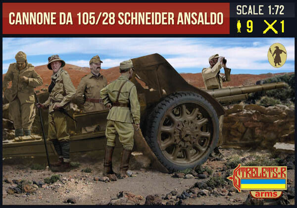 1:72 FIGUREN A016 Cannone da 105/28 Schneider Ansaldo with Italia - STRELETS