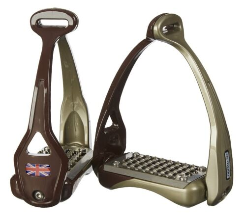 Acavallo OPERA Titanium Balance Flex Logo Stirrup Irons STIRRUPS Black /& Brown