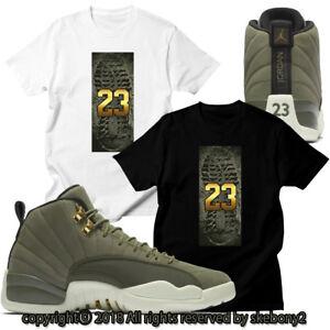 promo code c31cc 9febc Details about CUSTOM T SHIRT MATCHING Air Jordan 12 CP3 Olive Canvas Class  of 2003 JD 12-6-6