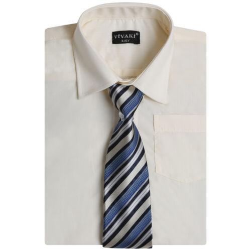 Ragazzi Smart Suit Camicia Ragazzi Camicie Manica Lunga Misto Cotone Camicia Formale e Cravatta