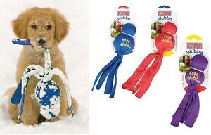 Wubba-Kong-Dog-Toy-nylon-fabric-covers-2-rubber-balls-Squeaker-S-XL
