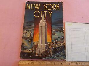 Nice 1940 era linen style nyc new york city art deco 68 - Style new york deco ...