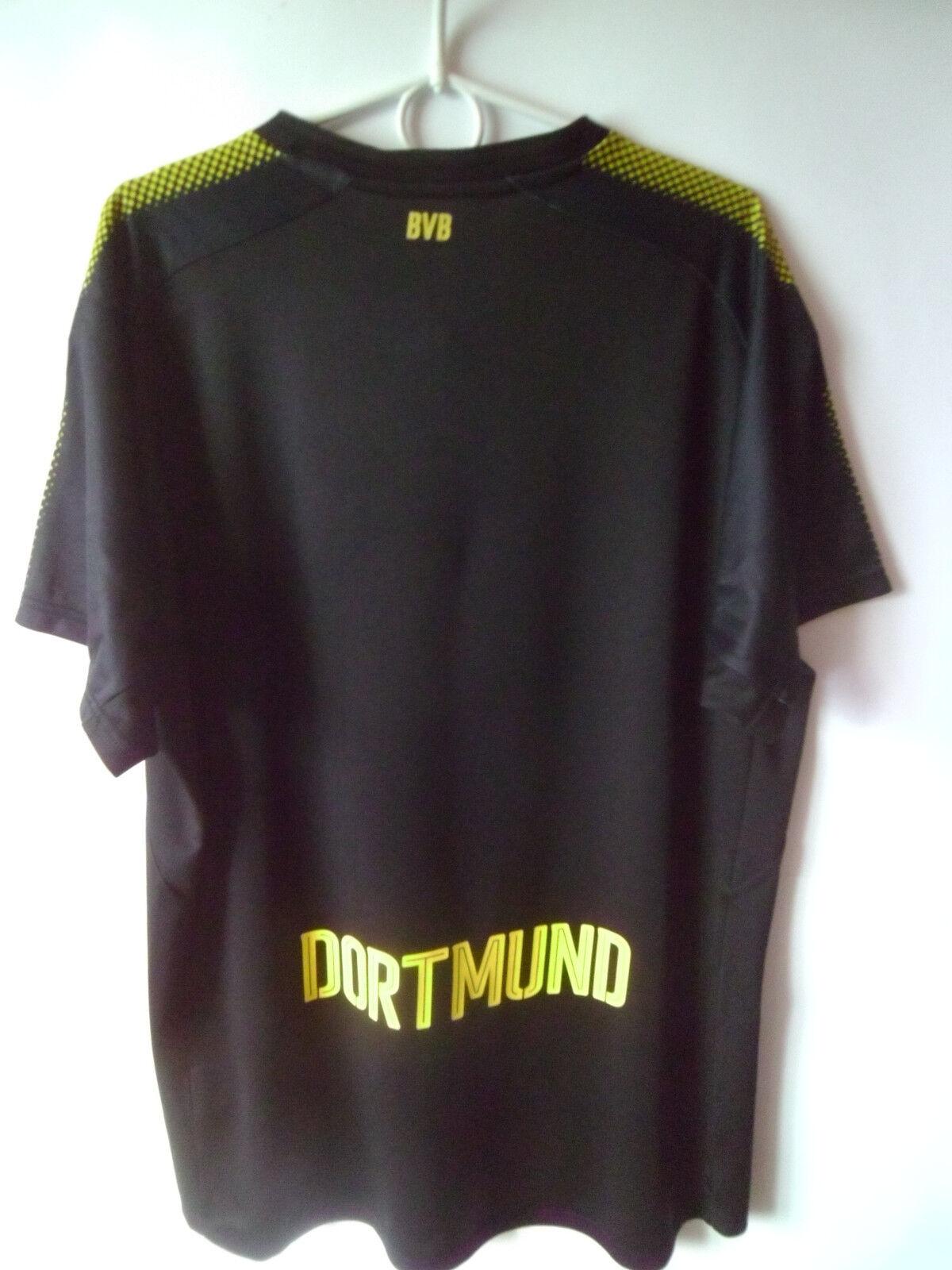 EXCELLENT EXCELLENT EXCELLENT    2017-18 Borussia Dortmund Away Shirt Jersey Trikot L 39b489