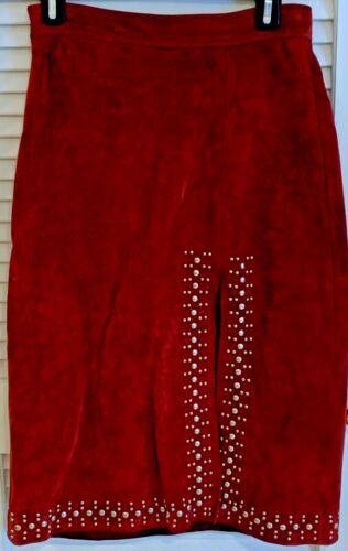 A.L.C. Rust Suede Rivet Skirt Size 6