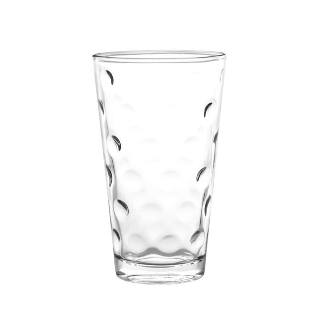 Cocktail Drinking Beverage Glasses with Gold Rim SET of 4-pc Luminarc Mirage 11 Oz Crystal-Clear Highball Water Juice 11 Oz Soda