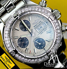 Diamond Breitling A13340 Super Ocean Stainless Steel Automatic Men's Watch