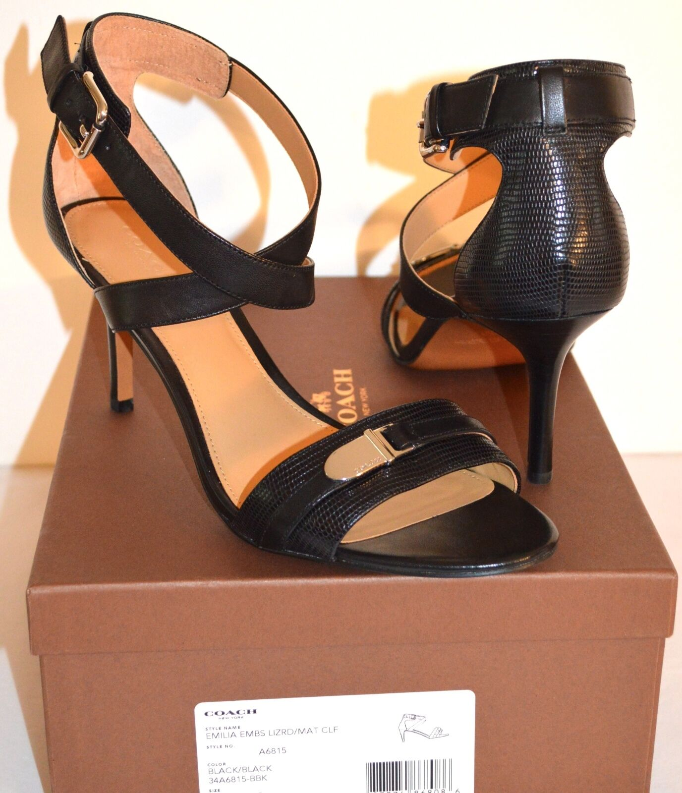 Women's NIB Tan Nubuck SIGERSON MORRISON Doe Wedge Ankle Sandals Size 9.5M