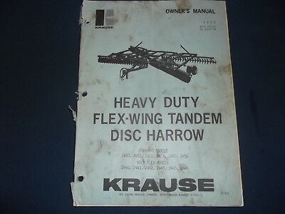 Krause Flex Wing Tandem Disc Harrow Operation